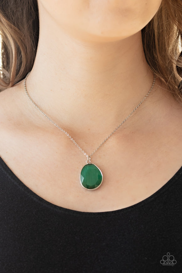Icy Opalescence - Green Necklace - Paparazzi Accessories