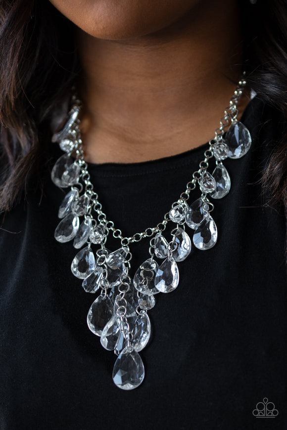 Irresistible Iridescence - White Necklace - Paparazzi Accessories