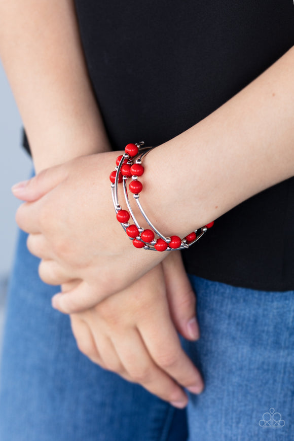 Let Freedom Ring - Red Bracelet - Paparazzi Accessories