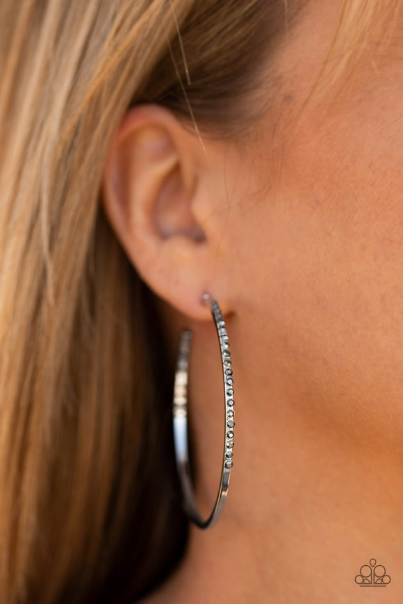 Make The FIERCE Move - Silver Earrings - Paparazzi Accessories