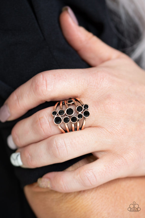 Meet In The Middle - Copper Ring - Paparazzi Accessories