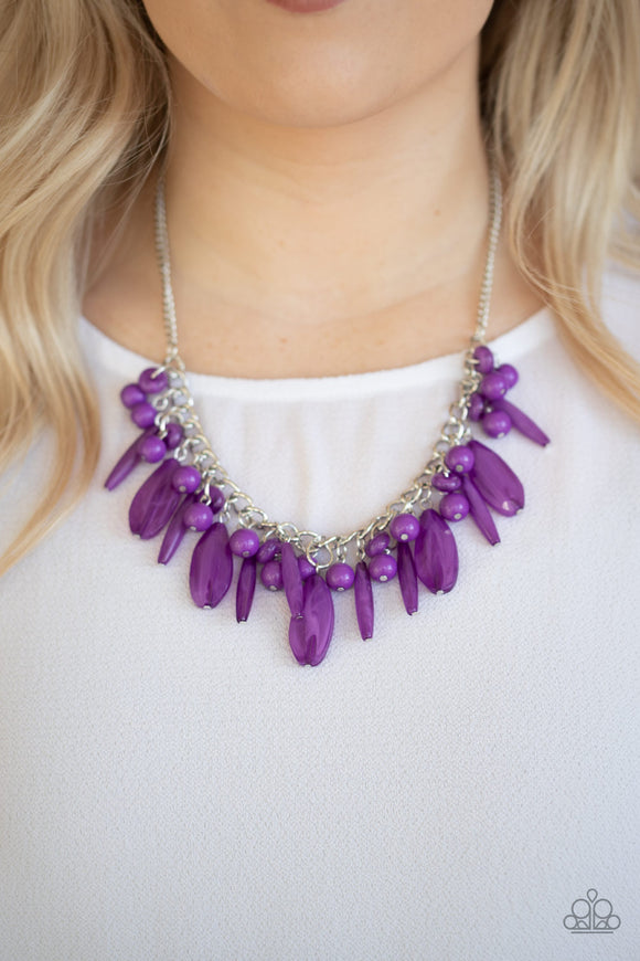 Miami Martinis - Purple Necklace - Paparazzi Accessories