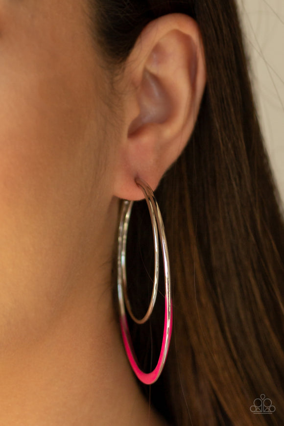 Miami Moonbeam - Pink Earrings - Paparazzi Accessories