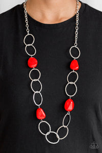 Modern Day Malibu - Red Necklace - Paparazzi Accessories