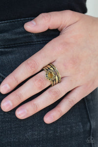 Modern Maven - Brass Ring - Paparazzi Accessories