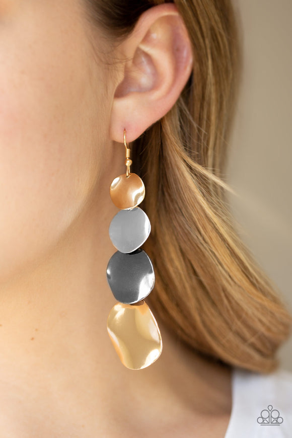 Modern Mecca - Multi Earrings - Paparazzi Accessories