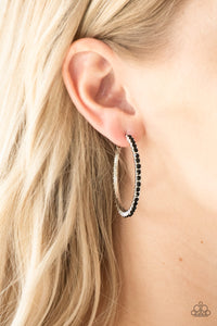 Must Be The Money - Black Earrings - Paparazzi Accessories