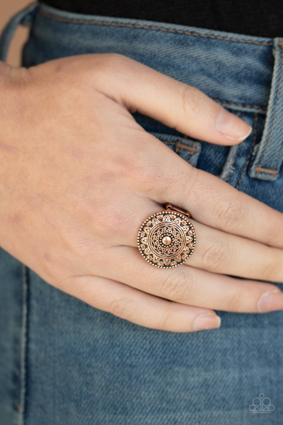 One in a MEDALLION - Copper Ring - Paparazzi Accessories