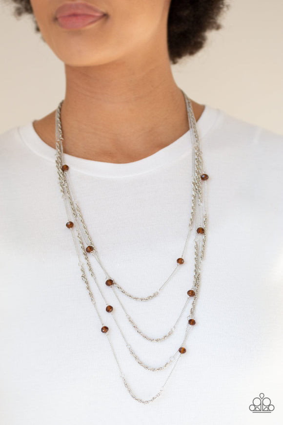 Open For Opulence - Brown Necklace - Paparazzi Accessories