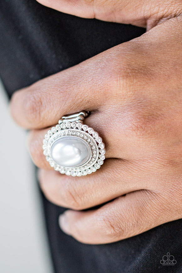 Opulently Olympian - Silver Ring - Paparazzi Accessories