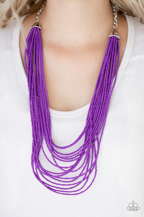 Peacefully Pacific - Purple Necklace - Paparazzi Acessories