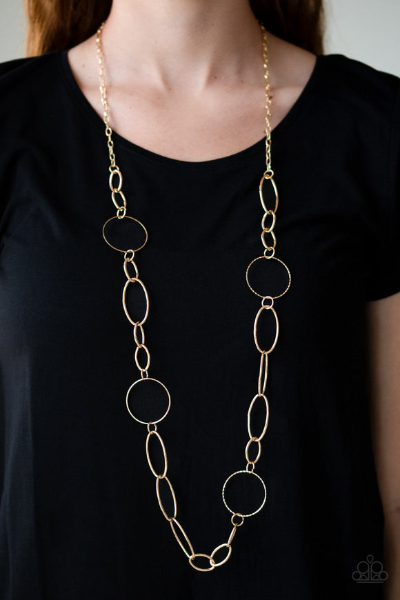 Perfect MISMATCH - Gold Necklace - Paparazzi Accessories
