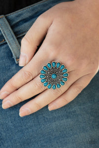 Posy Paradise - Blue Ring - Paparazzi Accessories