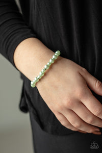 Powder and Pearls - Green Bracelet - Paparazzi Accessories