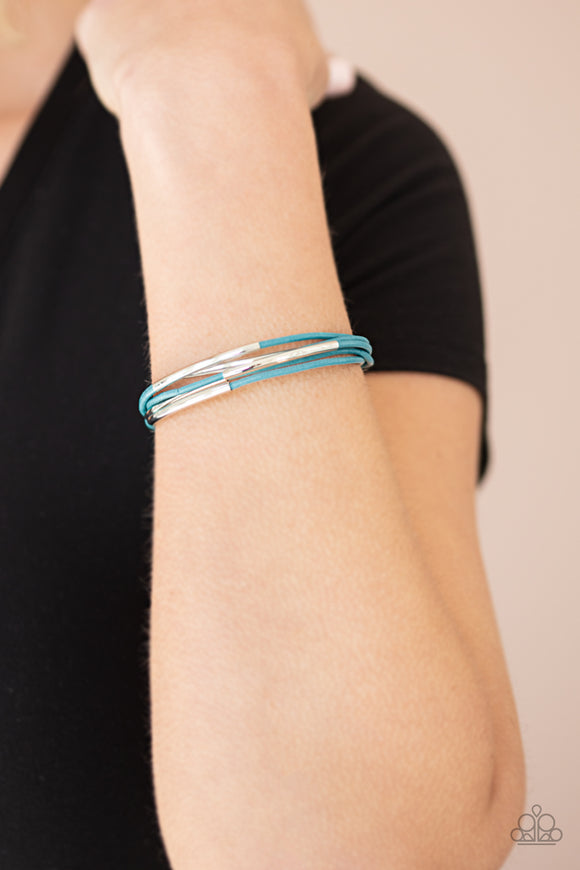 Power CORD - Blue Bracelet - Paparazzi Accessories