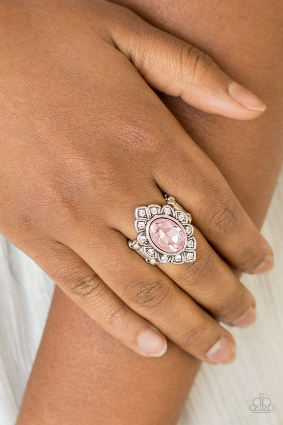 Power Behind The Throne - Pink Ring - Paparazzi Accessories