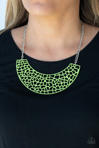 Powerful Prowl - Green Necklace - Paparazzi Accessories