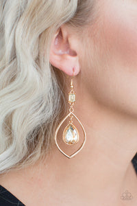 Priceless - Gold Earrings - Paparazzi Accessories