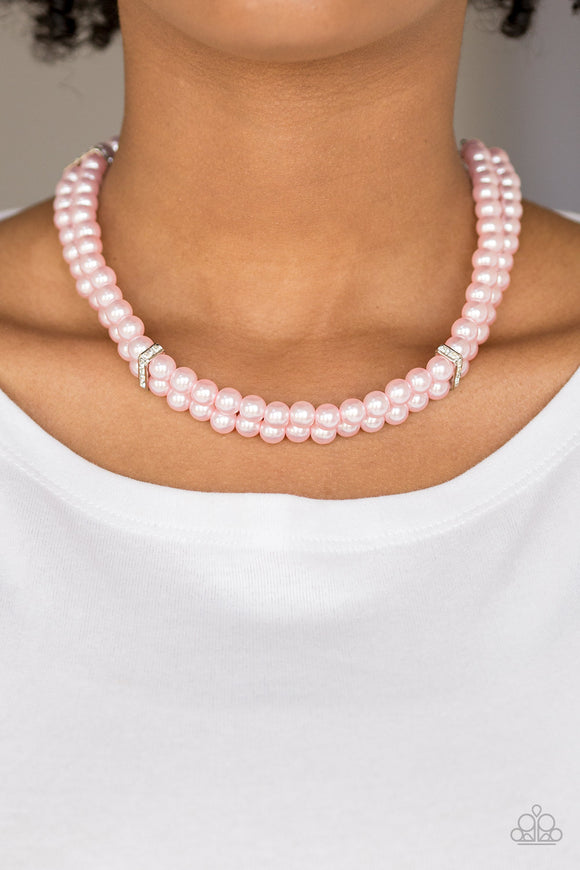 Put On Your Party Dress - Pink Necklace - Paparazzi Accessories