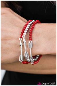 Ready, Aim, Fire! - Red Bracelet - Paparazzi Accessories