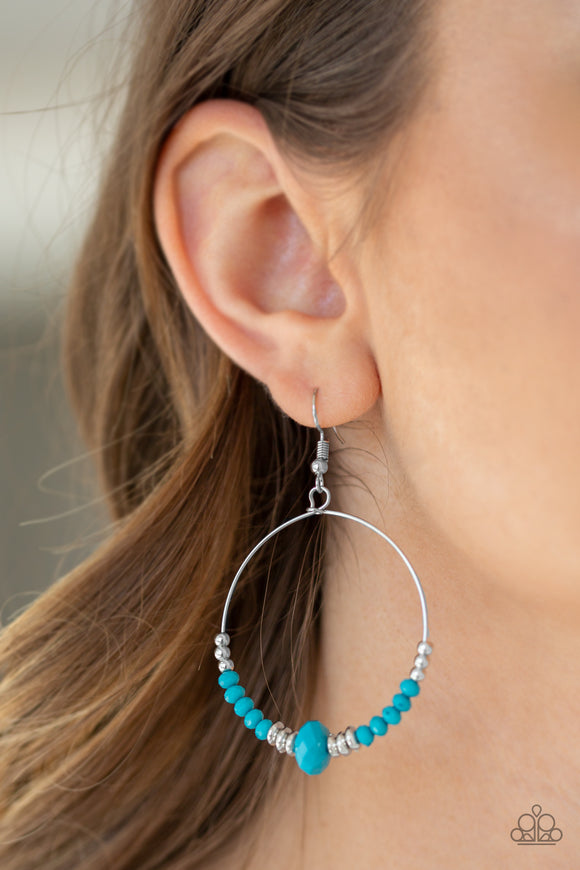 Retro Rural - Blue Earrings - Paparazzi Accessories