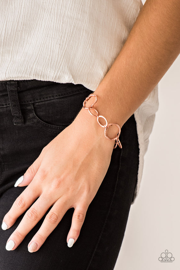 Ring Up The Curtain - Copper Bracelet - Paparazzi Accessories