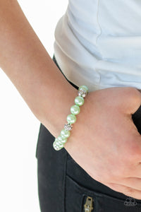Rosy Radiance - Green Bracelet - Paparazzi Accessories