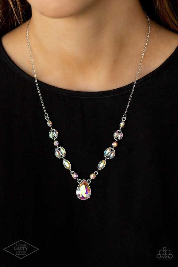Royal Rendezvous - Iridescent Necklace - Paparazzi Accessories