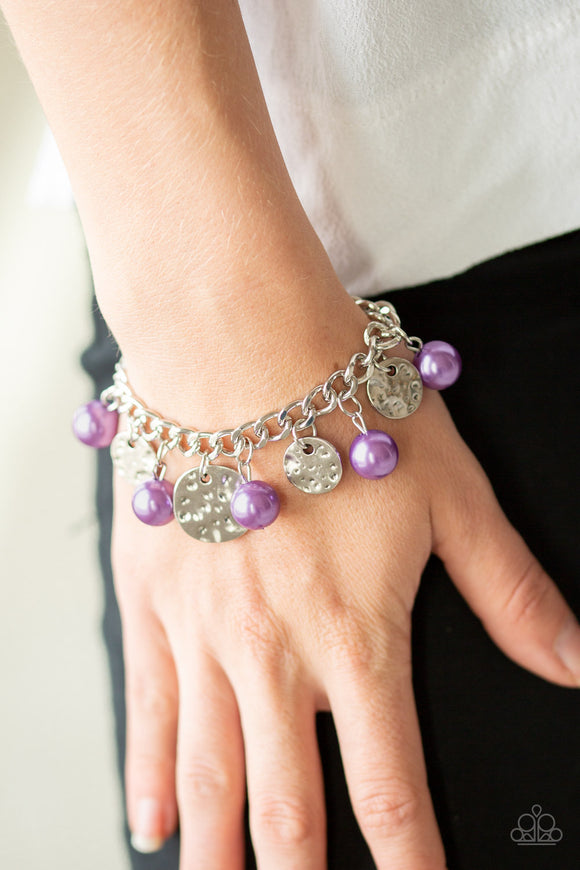 SEA In A New Light - Purple Bracelet - Paparazzi Accessories