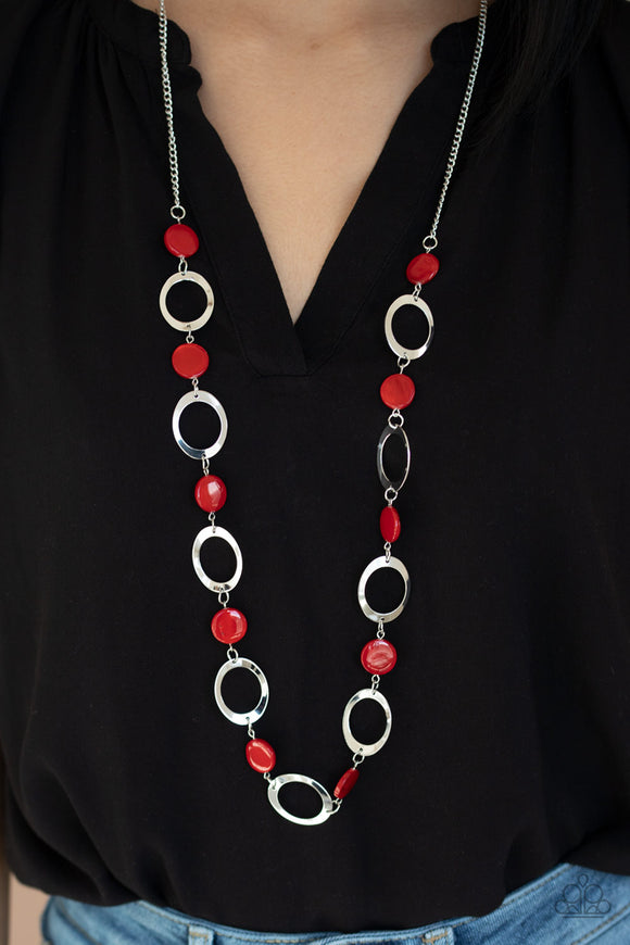 SHELL Your Soul - Red Necklace - Paparazzi Accessories