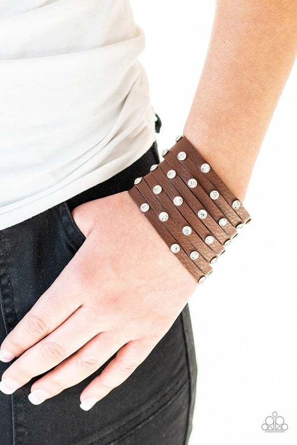 Sass Squad - Brown Bracelet - Paparazzi Accessories