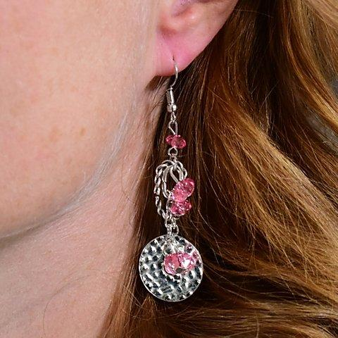 Seaside Catch - Pink Earrings - Paparazzi Accessories