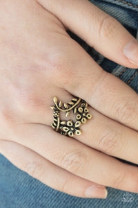 Secret Eden - Brass Ring - Paparazzi Accessories