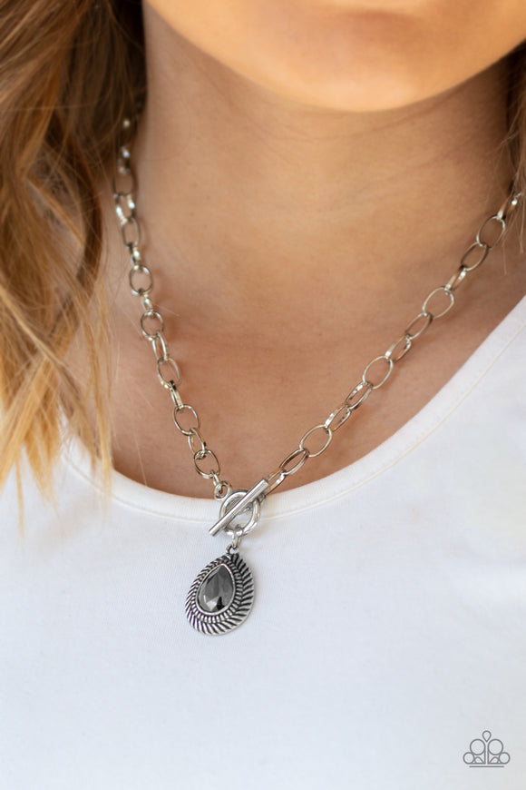 Sheen Queen - Silver Necklace - Paparazzi Accessories