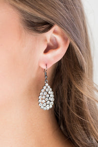 Sparkling Sparkle-naire - Black Earrings - Paparazzi Accessories