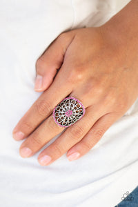 Springtime Shimmer - Pink Ring - Paparazzi Accessories