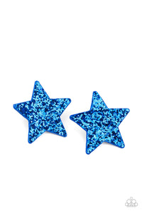 Star-Spangled Superstar - Blue Hair Clip - Paparazzi Accessories