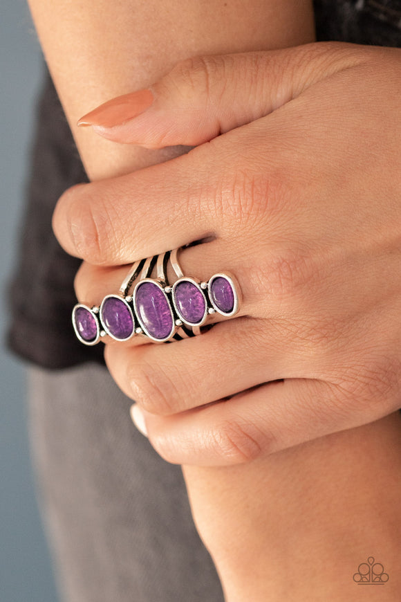 Stone Sublime - Purple Ring - Paparazzi Accessories