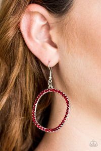 Stoppin Traffic - Red Earrings - Paparazzi Accessories