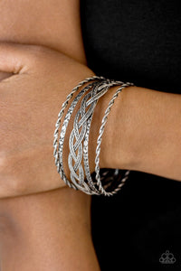 Straight Street - Silver Bracelet - Paparazzi Accessories