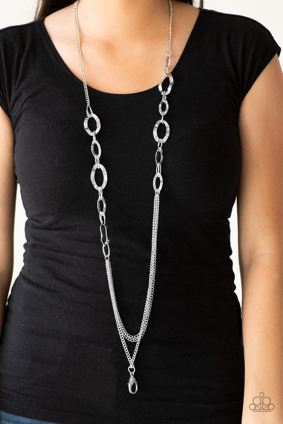 Street Beat - Silver Lanyard - Paparazzi Accessories