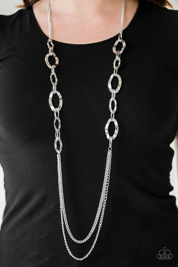 Street Beat - Silver Necklace - Paparazzi Accessories