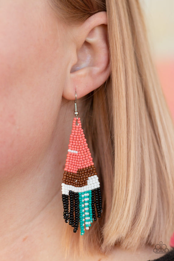 Summer Heat - Orange Earrings - Paparazzi Accessories
