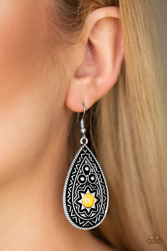 Summer Sol - Yellow Earrings - Paparazzi Accessories