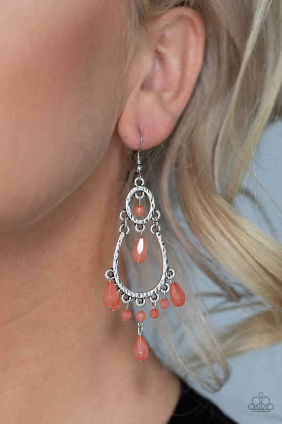 Summer Sorbet - Orange Earrings - Paparazzi Accessories