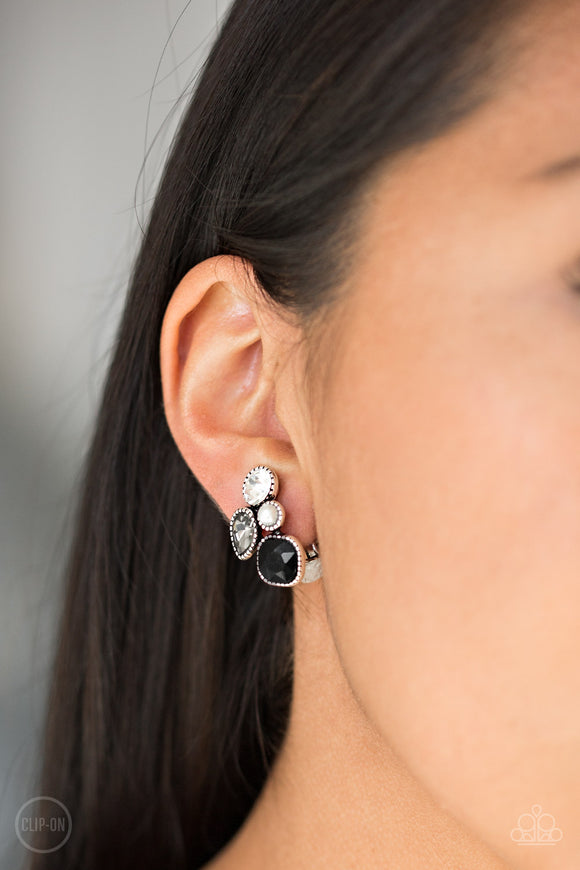 Super Superstar - Black Earrings - Paparazzi Accessories