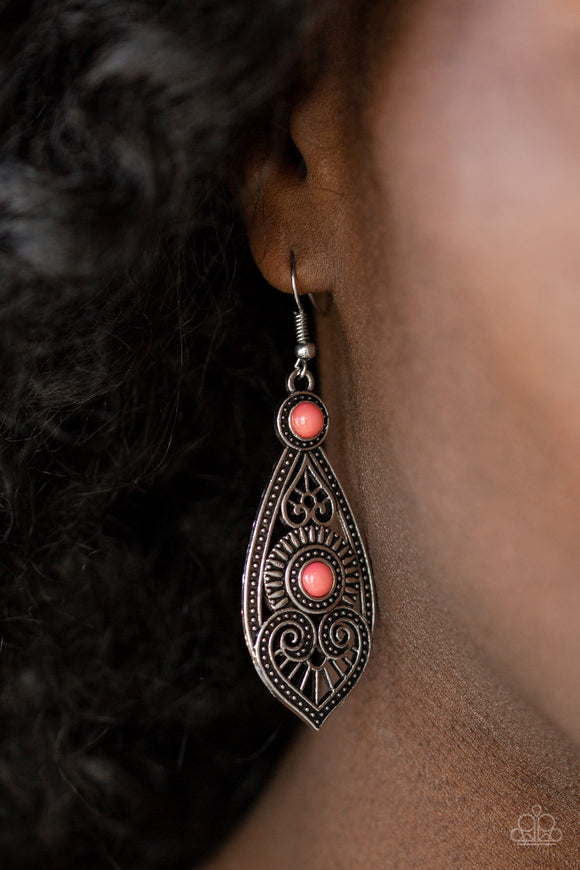 Sweetly Siren - Pink Earrings - Paparazzi Accessories