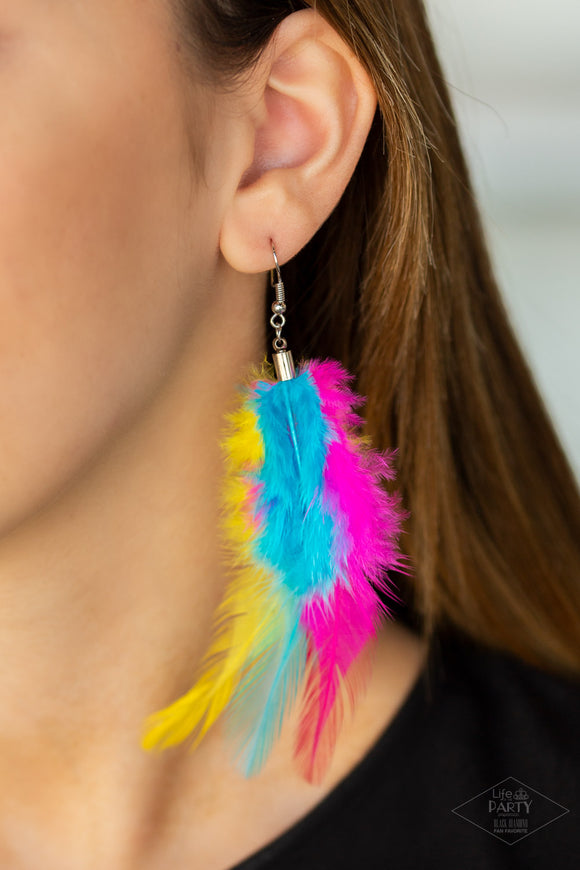 Take A BOA - Multi Earrings - Paparazzi Accessories