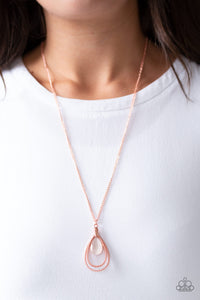 Teardrop Tranquility - Copper Necklace - Paparazzi Accessories