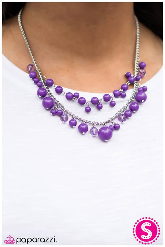 The Wedding Planner - Purple Necklace - Paparazzi Accessories